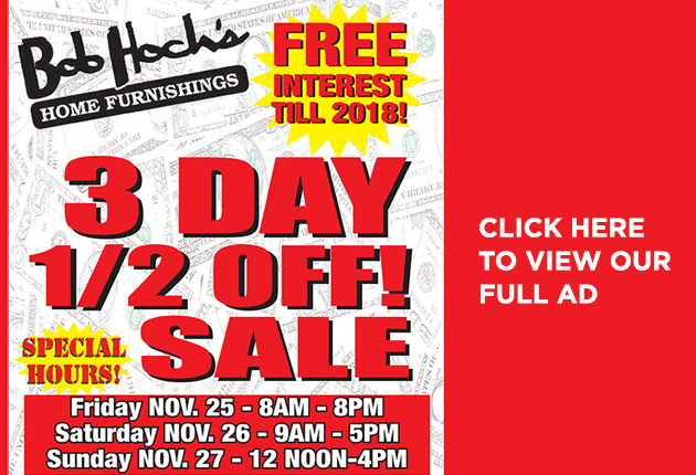 3 Day half off sale!